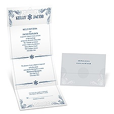 Winter Snowflakes Seal and Send Wedding Invitation