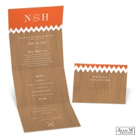 Rustic Wood Seal and Send Wedding Invitation