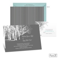 Trees in Winter Wedding Invitation