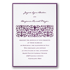White Layered Wedding Invitation