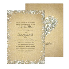 Burlap Blossoms Wedding Invitation