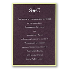 Eggplant Layered Wedding Invitation