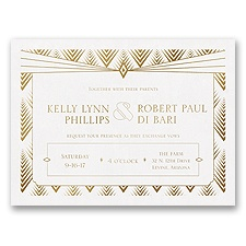 Art Deco Glamour Wedding Invitation