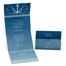 Nautical Waves Seal and Send Wedding Invitation