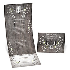 Rustic Vines Seal and Send Wedding Invitation