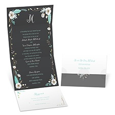 White Blossoms Seal and Send Wedding Invitation