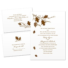 Leaves Fall Wedding Invitation Kit