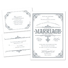Vintage Marriage Wedding Invitation Kit