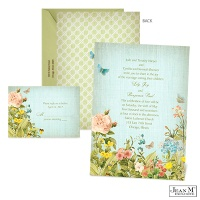 Butterfly Blossoms Wedding Invitation