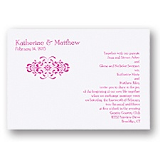 Personal Flourish Wedding Invitation