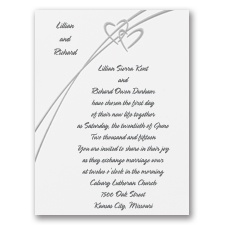 Precious Hearts Wedding Invitation