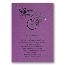 Purple Shimmer Wedding Invitation Card