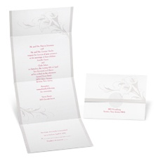 Calla Lily Seal and Send Wedding Invitation