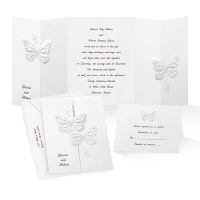 Beautiful Butterflies Wedding Invitation