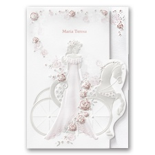 Elegant Carriage Quinceanera Invitation