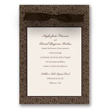 Rich Damask Wedding Invitation