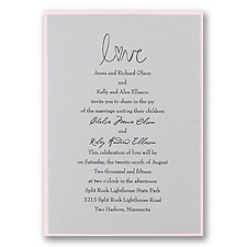 Silver Shimmer Layered Wedding Invitation