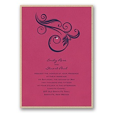 Fuchsia Layered Wedding Invitation