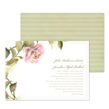 Elegant Rose Wedding Invitation