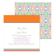 Colorful Mosaic Wedding Invitation - Square