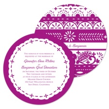Design Sampler Wedding Invitation - Round
