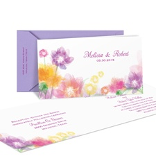 Pastel Posies Wedding Invitation