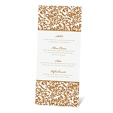 Vintage Damask Menu Card