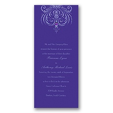 Damask Heart Wedding Invitation - Orchid