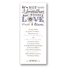 Artistic Poetry Wedding Invitation - Orchid