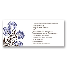 Whimsical Floral Wedding Invitation - Lilac