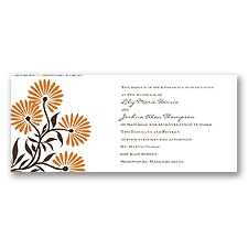 Whimsical Floral Wedding Invitation - Poppy