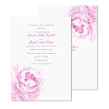Perfect Peony Wedding Invitation
