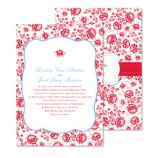 Vintage Flowers Wedding Invitation