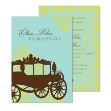Carriage Ride Wedding Invitation