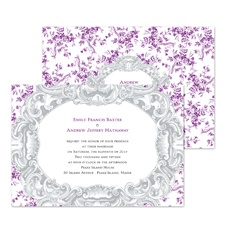 Vintage Toile Wedding Invitation