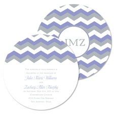 Chevron Style Wedding Invitation - Orchid