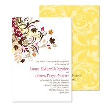 Fall Flourish Wedding Invitation