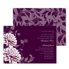 Floral Fantasy Wedding Invitation