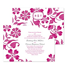 Detailed Floral Wedding Invitation