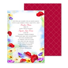 Watercolor Garden Wedding Invitation