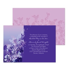 Ombre Garden Wedding Invitation - Freesia