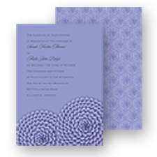 Ruffled Flowers Wedding Invitation - Orchid