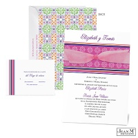 Colorful Mosaic Wedding Invitation