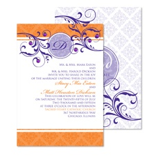 Fine Flourishes Wedding Invitation - Poppy