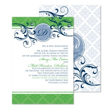 Fine Flourishes Wedding Invitation - Grass