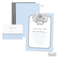 Floral Impression Wedding Invitation