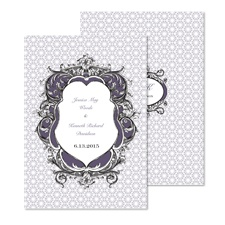 Ornate Crests Wedding Invitation