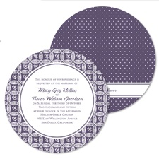 Perfectly Patterned Wedding Invitation - Round
