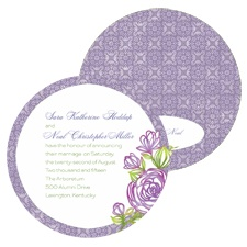 Rosy Accent Wedding Invitation - Lilac