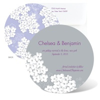 Flurry of Flowers Save the Date - Orchid